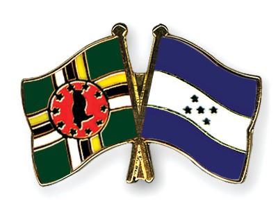 Crossed Flag Pins Dominica-Honduras