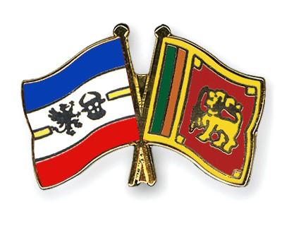 Crossed Flag Pins Mecklenburg-Western-Pomerania-Sri-Lanka