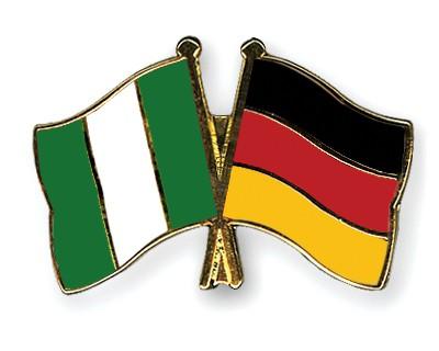 Crossed Flag Pins Nigeria-Germany