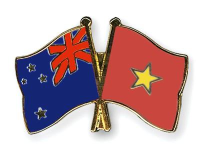 Crossed Flag Pins New-Zealand-Vietnam