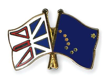 Crossed Flag Pins Newfoundland-and-Labrador-Alaska