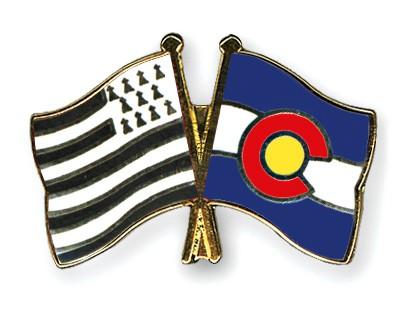 Crossed Flag Pins Britanny-Colorado