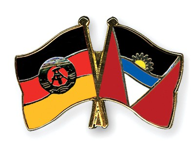 Crossed Flag Pins GDR-Antigua-and-Barbuda