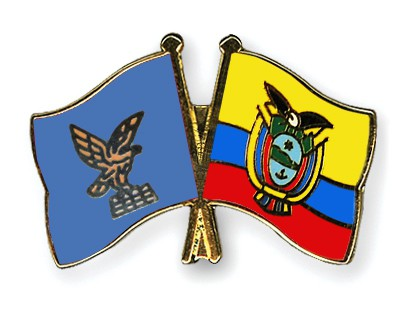 Crossed Flag Pins Friuli-Venezia-Giulia-Ecuador