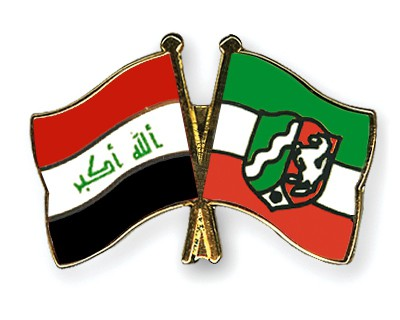 Crossed Flag Pins Iraq-North-Rhine-Westphalia