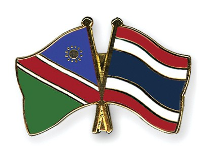 Crossed Flag Pins Namibia-Thailand