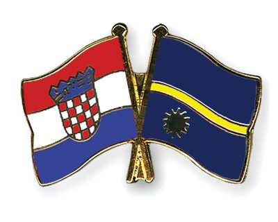 Crossed Flag Pins Croatia-Nauru