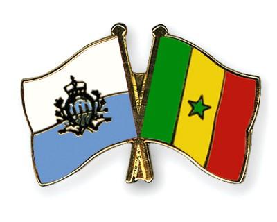 Crossed Flag Pins San-Marino-Senegal