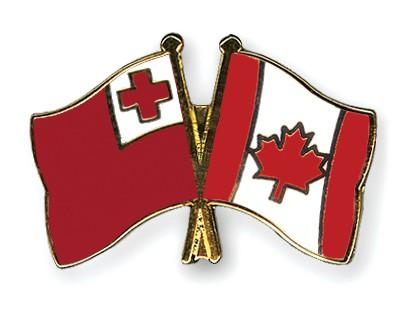 Crossed Flag Pins Tonga-Canada