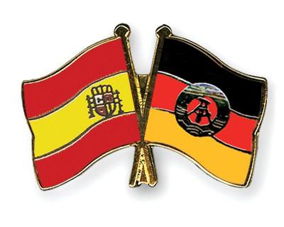 Crossed Flag Pins Spain-GDR