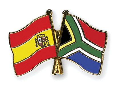 Crossed Flag Pins Spain-South-Africa