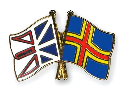 Crossed Flag Pins Newfoundland-and-Labrador-Aland
