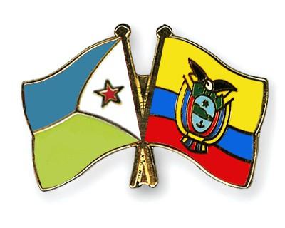 Crossed Flag Pins Djibouti-Ecuador
