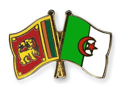 Crossed Flag Pins Sri-Lanka-Algeria