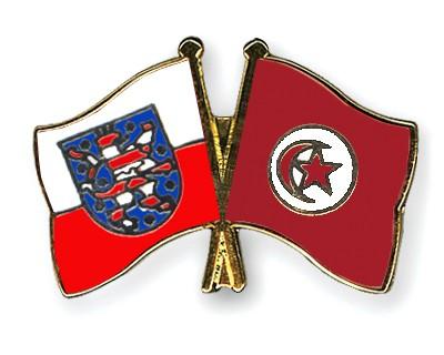 Crossed Flag Pins Thuringia-Tunisia