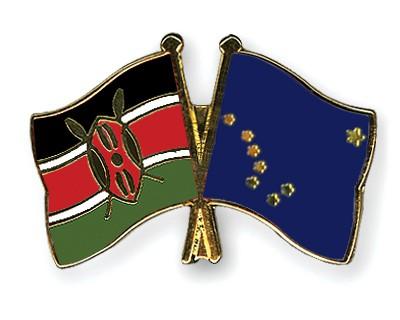 Crossed Flag Pins Kenya-Alaska