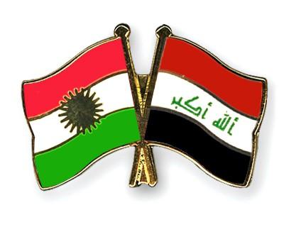 Crossed Flag Pins Kurdistan-Iraq
