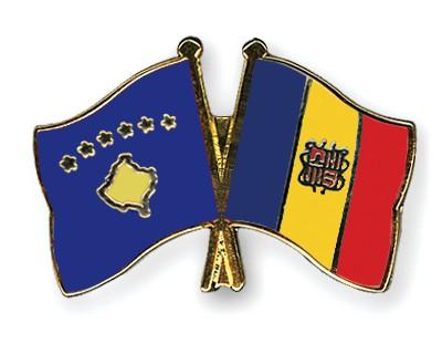 Crossed Flag Pins Kosovo-Andorra