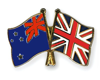 Crossed Flag Pins New-Zealand-Great-Britain