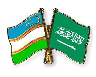 Special Offer Crossed Flag Pins Uzbekistan-Saudi-Arabia