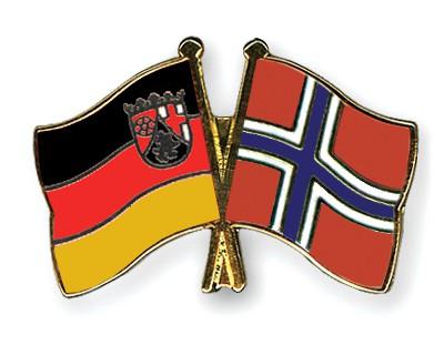 Crossed Flag Pins Rhineland-Palatinate-Norway