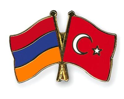 Crossed Flag Pins Armenia-Turkey