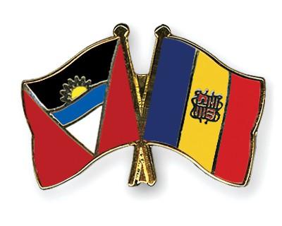 Crossed Flag Pins Antigua-and-Barbuda-Andorra