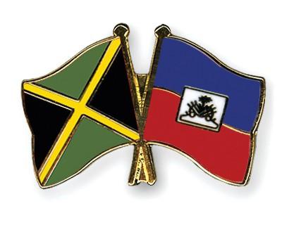 Special Offer Crossed Flag Pins Jamaica-Haiti