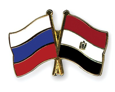 Crossed Flag Pins Russia-Egypt