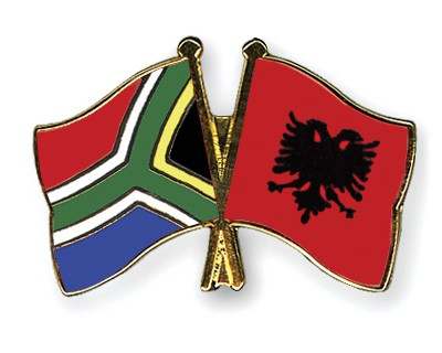 Crossed Flag Pins South-Africa-Albania