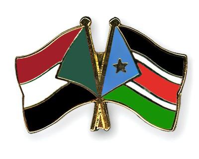Special Offer Crossed Flag Pins Sudan-South-Sudan