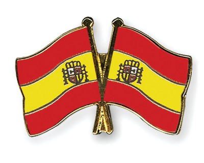 Crossed Flag Pins Spain-Spain