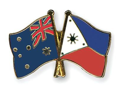 Crossed Flag Pins Australia-Philippines