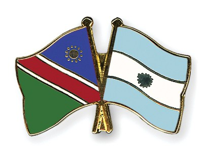Crossed Flag Pins Namibia-Argentina