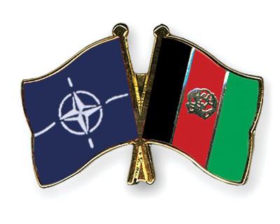 Crossed Flag Pins NATO-Afghanistan