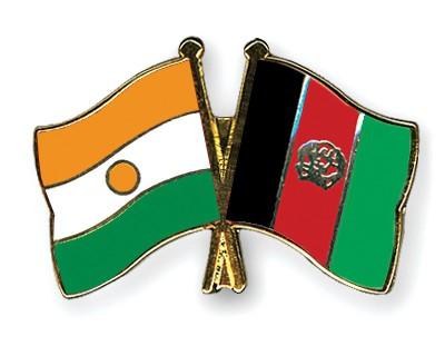 Crossed Flag Pins Niger-Afghanistan