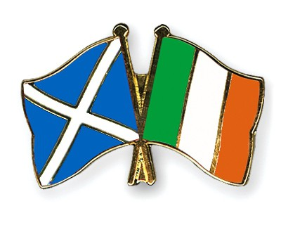 Crossed Flag Pins Scotland-Ireland