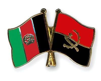 Crossed Flag Pins Afghanistan-Angola