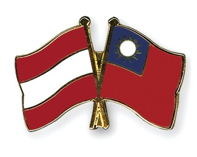 Special Offer Crossed Flag Pins Austria-Taiwan