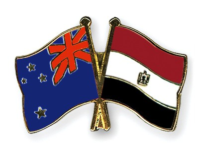 Crossed Flag Pins New-Zealand-Egypt
