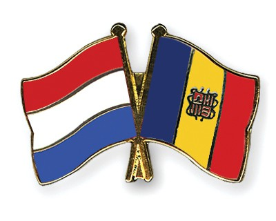 Crossed Flag Pins Netherlands-Andorra