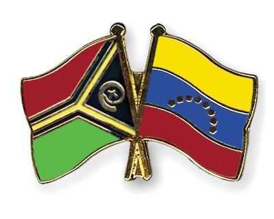 Crossed Flag Pins Vanuatu-Venezuela