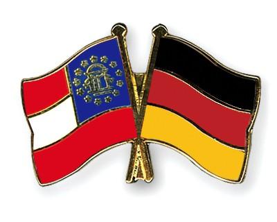 Crossed Flag Pins Georgia-Germany