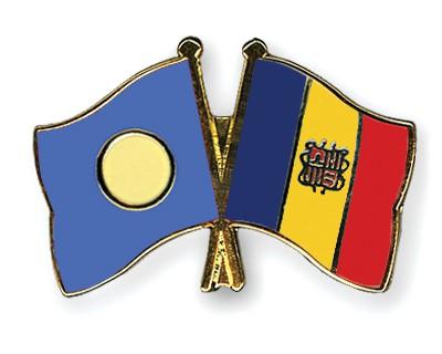 Crossed Flag Pins Palau-Andorra