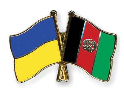 Crossed Flag Pins Ukraine-Afghanistan