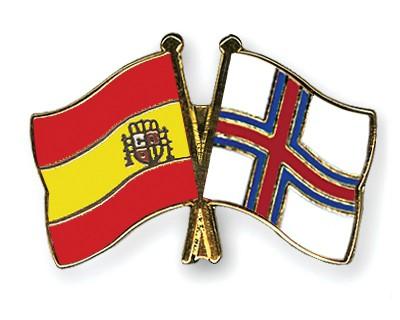Crossed Flag Pins Spain-Faeroe-Islands