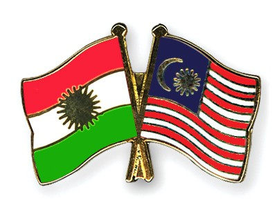 Crossed Flag Pins Kurdistan-Malaysia