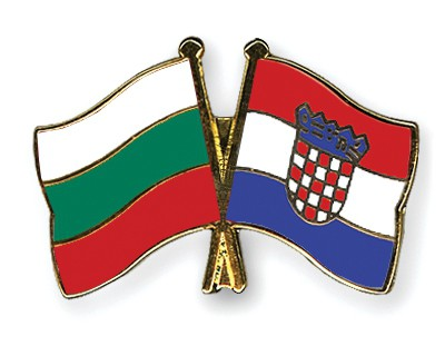 Crossed Flag Pins Bulgaria-Croatia