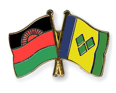 Crossed Flag Pins Malawi-Saint-Vincent-and-the-Grenadines