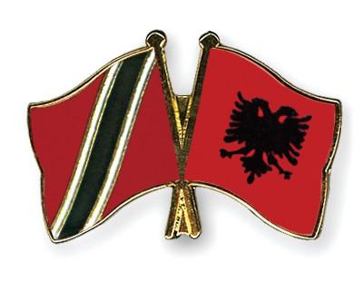 Crossed Flag Pins Trinidad-and-Tobago-Albania